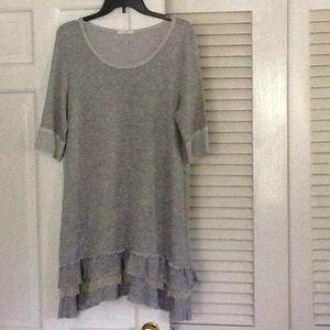Cute gray dress or tunic with ruffles